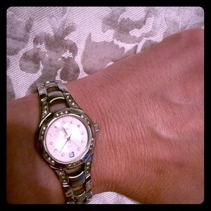 Relic fashion watch silver with pink face